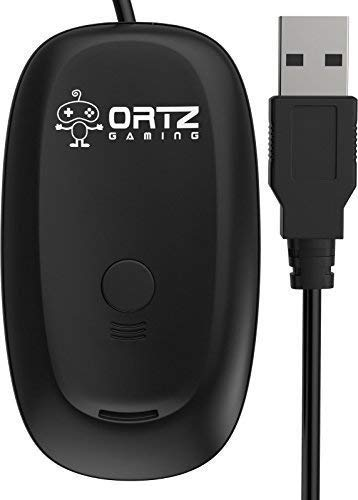 Wireless Gaming Adapter Xbox 360 (Ortz Xbox 360 Wireless Receiver for  Windows XP/VISTA/7 - Black)