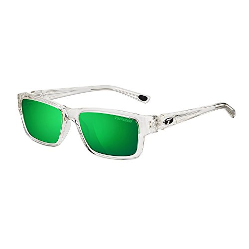 Tifosi Hagen Sunglasses Crystal Clear / Clarion Green Polarized One Size