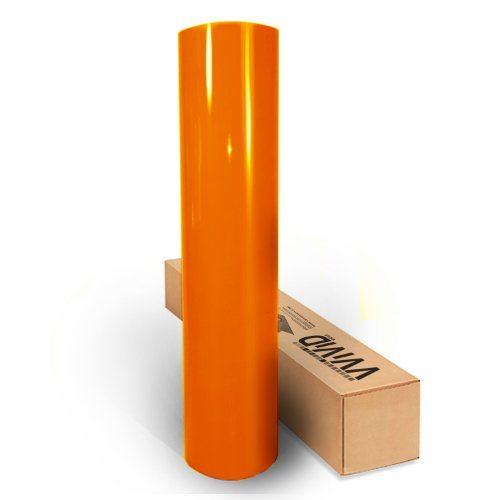 VViViD Orange High Gloss Realistic Paint-Like Microfinish Vinyl Wrap Roll XPO Air Release Technology (1ft x 5ft)