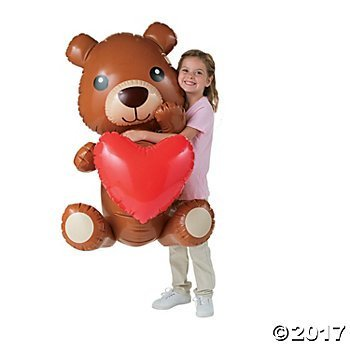 Fun Express Inflatable Giant Teddy Bear with Heart - 40 inch ()
