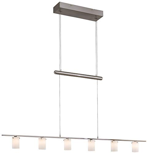 George Kovacs P8027-084, Counter Weights, 6 Light Chandelier, Brushed Nickel