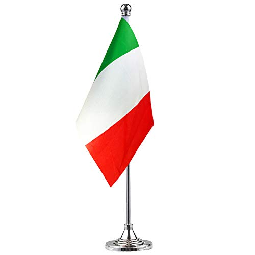 GentleGirl Italy Flag Italian Flag Table Flag,Desk Flag,Office Flag,International World Country Flags Banners,Festival Events Celebration,Office Decoration,Desk,Home Decoration]()