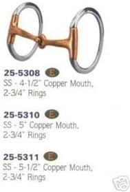 Hollow Mouth Eggbutt Snaffle Bit for Horse Bridle Stainless Steel