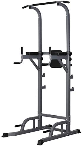HI-MAT Heavy Duty Power Tower Pull Up Bars Dip Stands Pushup Stands Multi-Function Strength Training Equipment