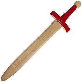 Juguetutto /Ép/ée du Roi Arturo Rouge Jouet en bois