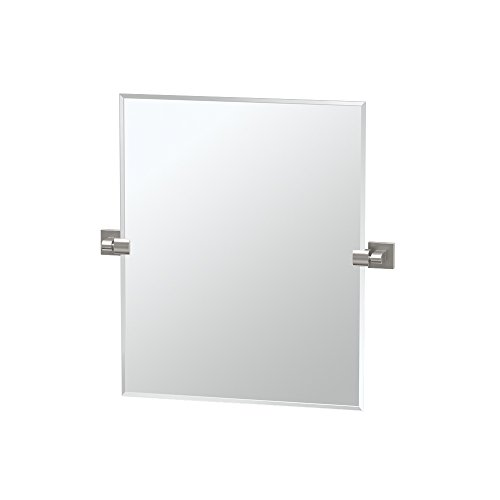 "4079SM Elevate Frameless Rectangle Mirror, Satin Nickel, 24""H"