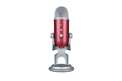 Blue Yeti USB Mic for Recording & Streaming On PC & Mac, 3 Condenser Capsules, 4 Pickup patterns, Headphone Output & Volume Control, Mic Gain Control, Adjustable Stand, Plug & Play - Steel Red