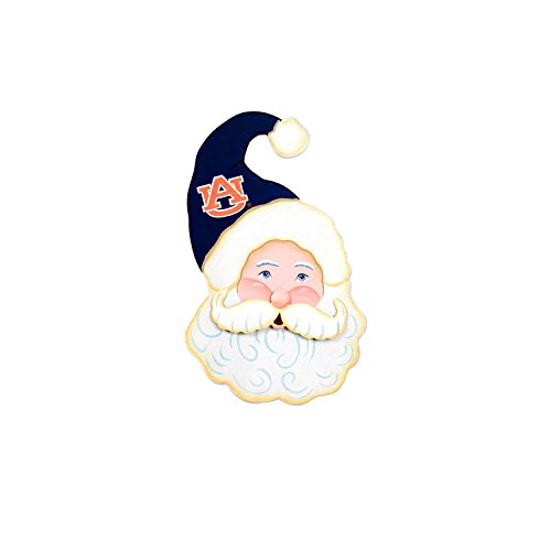 The Round Top Collection Gameday Santa Face Wood - Auburn University - Metal and ()