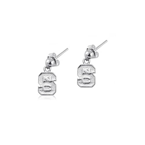 NC State University Wolfpack NCSU Sterling Silver Jewelry by Dayna Designs (Post Dangle Earrings) by Dayna U