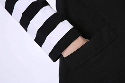 Elgante Trench Longue avec Schwarz Jacken Sleeveless breal Revers Button Manche Poches Femme Gilet Automne Mode Parker Uni Printemps Manteau Latrales AAXpUq