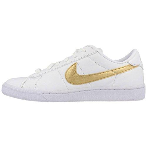 Gold white Scarpe oro Bianco Tennis Nike Da desert Donna Classic Wmns Metallic Metallizzato Fitness 64wvTqfF
