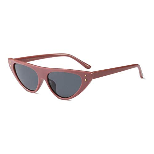 New Cat Eye Sunglasses For Women Classic Stylish Flat Top Cameo Brown W Black