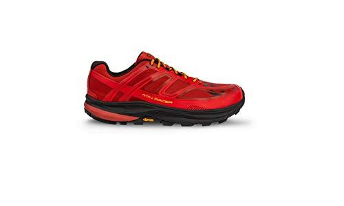 Topo Athletic Men's MTN Racer Trail Running Shoe, Red/Orange, Size 9.5
