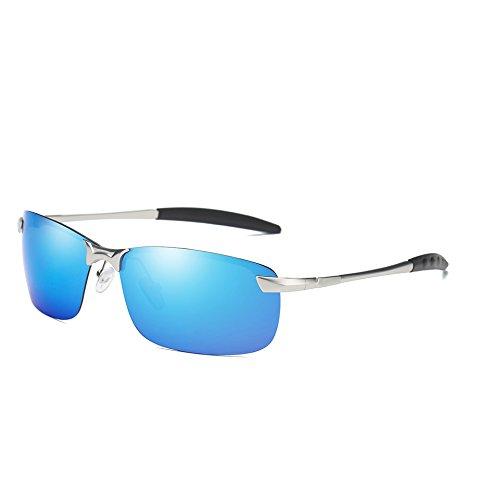 TL del Hombres Sol Gafas Silver Película Sunglasses de Gafas de Plata Blue Color polarizadas Hombres de Conducción Azul de Deporte rWUwYBqr0
