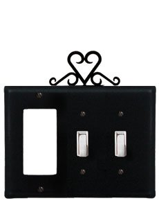 EOS-133 Heron Single Outlet Single Switch Electric Wall Plate with Silhouette