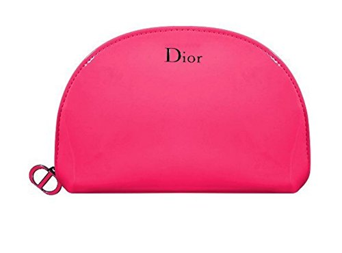 DIOR Beauty Pink Patent Makeup Bag Pouch Pink Logo