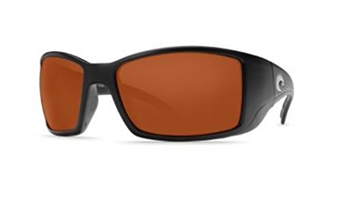 Costa Del Mar BL11OCGLP Blackfin Sunglass, Black - Sunglasses Best Fly Fishing