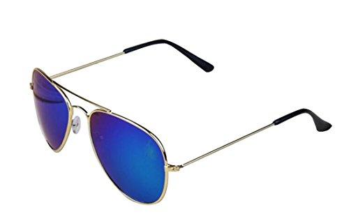 Green Children Bridge Metal Tide Double Kids Eyewear sunglasses Lens polarized Hollow Frame Cool Eyeglasses Gold r5qrwYOB