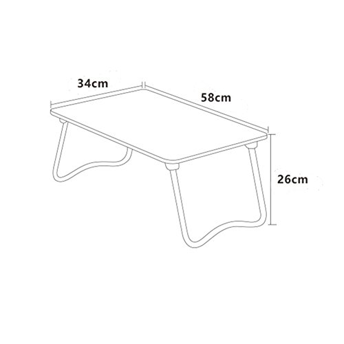 PENGFEI Foldable Laptop Stand for Desk Portable Bed Table Hospital Breakfast Tray College Students Dorm Room Learn Read, 4 Colors (Color : B, Size : 58x34x26CM) by PENGFEI-xiaozhuozi (Image #4)