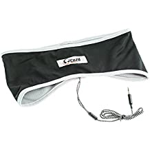 CozyPhones Sleep Headphones & Travel Bag , Lycra Cool Mesh Lining and Ultra Thin Speakers. Perfect for Sleeping, Sports, Air Travel, Meditation and Relaxation - WHITE