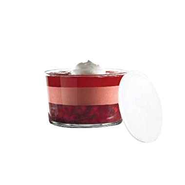Anchor Hocking Presence Party Bowl with White Plastic Lid