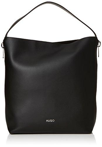 HUGO - Hoxton Hobo, Bolsos maletín Mujer, Negro (Black), 12x37x30 cm (B x H T)