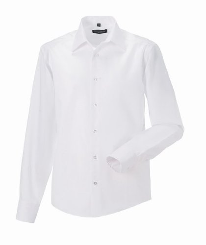Russell Collection - Camisa formal - para hombre blanco