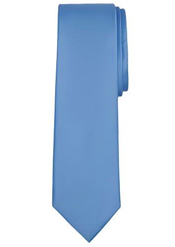 Jacob Alexander Solid Color Men's Regular Tie - Cornflower Blue (Cornflower Color Blue)