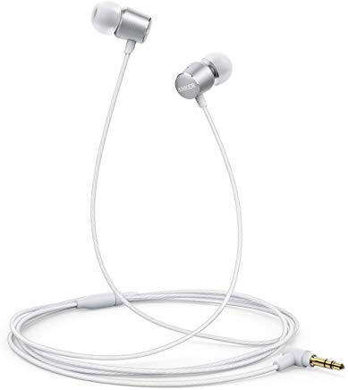 Anker SoundBuds Verve Wired Headphones, 10 mm Composite Drivers and Powerful Bass, in-Ear Stereo Earphones with Durable Cable Over 15,000 Bends and Carry Pouch