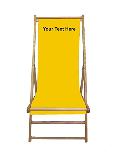 PERSONALIZED IMPRINTED Cabana Beach Sling Chair with SUNBRELLA Sling - Sunflower (Sunbrella Sunflower)