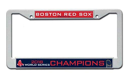 (Rico Industries, Inc. Boston Red Sox 2018 World Series Champions Plastic Frame License Plate Tag Cover Baseball)