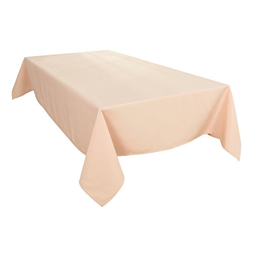 HIGHFLY Linen Rectangle Tablecloth 52 X 71 Inch Waterproof Beige Tablecloth for Home Kitchen Dining Room