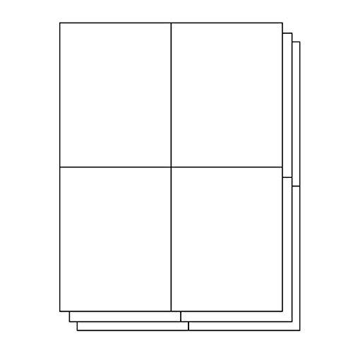OfficeSmartLabels Rectangular 4-1/4 x 5-1/2 Shipping/Wine Bottle Labels for Laser & Inkjet Printers, 4.25 x 5.5 Inch, 4 per sheet, White, 600 Labels, 150 -