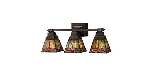 Meyda Tiffany 48036 Prairie Dragonfly 3 Light Vanity Light Fixture, 20