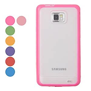 Plastic Transparent Body Case for Samsung Galaxy S2 I9100(Assorted Colors) --- COLOR:Pink