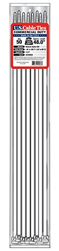 [해외]미국 케이블 타이 CD48N50 48 인치 상용 의무 케이블 타이, 내츄럴, 50 팩/US Cable Ties CD48N50 48-Inch Commercial Duty Cable Ties, Natural, 50-Pac