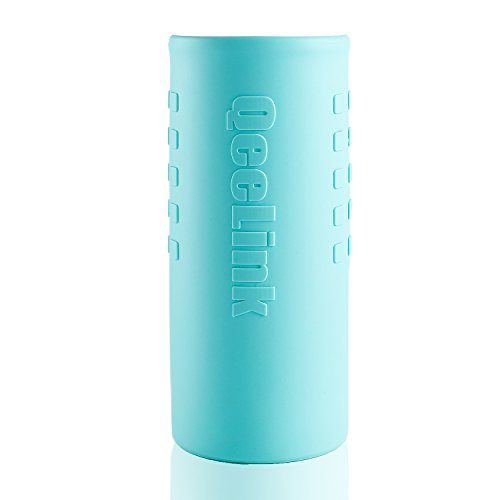 - QeeLink Sleeve for Hydro Flask - Hydro Flask Type Water Bottle Silicone Sleeve - Hydroflask Accessories - All-Round Protection (Multiple Colors, 40oz) (Blue)