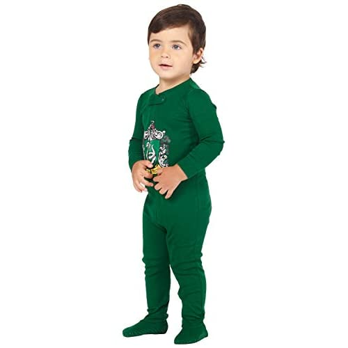 Intimo Harry Potter Baby Pajamas Set Footed Jammies with Beanie Hogwarts House