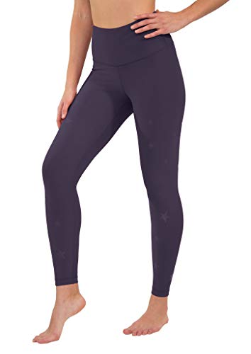 90 Degree By Reflex - Performance Activewear - Printed Yoga Leggings - Sweet Acai Star Print Ankle - Small -