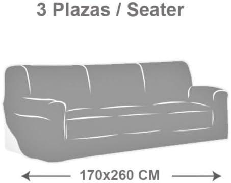 MercuryTextil Fundas de Sofas elasticas y adapatable, Funda Sofa 1,2,3 plazas Sofa Clic (Morado, 3PLAZAS 170-260CM)