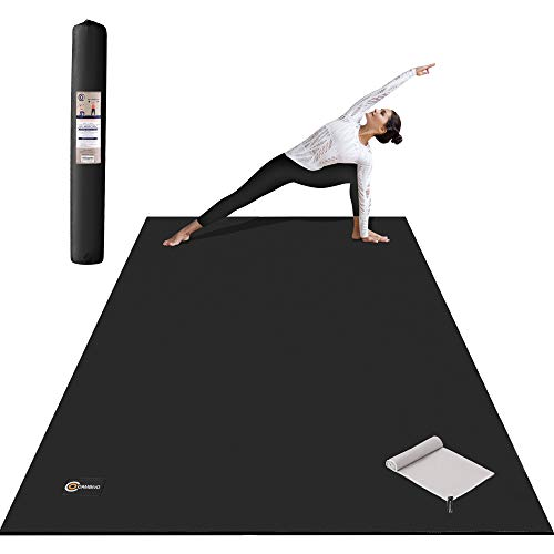 CAMBIVO Large Yoga Mat 7'x 5' x 8mm, Thick Workout Mat Barefoot Exercise Mat for Home Gym flooring, Cardio, Pilates, Stretching, Extra Big and Wide Ultra Comfortable