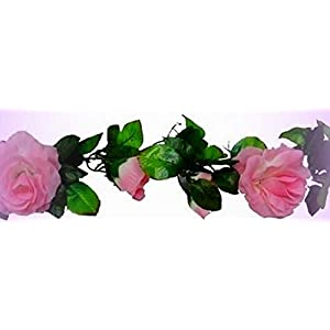 Inna-Wholesale Art Crafts New Cream Pink Rose Garland Arch Gazebo Silk Decorating Flowers Artificial Roses Vines - Perfect for Any Wedding, Special Occasion or Home Office D?cor 55
