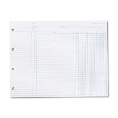 Wilson Jones Regular Ledger Sheets - 9.25 x 11.87 Sheet Size - White - 100 / Pack by Wilson Jones®
