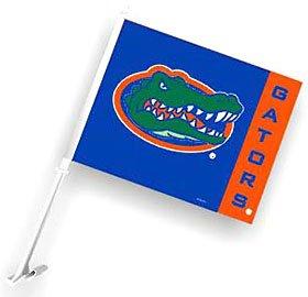 (Florida Gators Royal Blue Car Flag W/Orange Vertical Stripe)