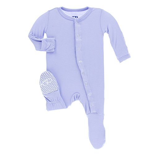 KicKee Pants Girls Basic Footie- Lilac, 9-12 Months