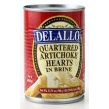 Delallo Quartered Artichoke Hearts in Brine, 13.75 Ounce -- 12 per case. Frozen Artichoke Hearts