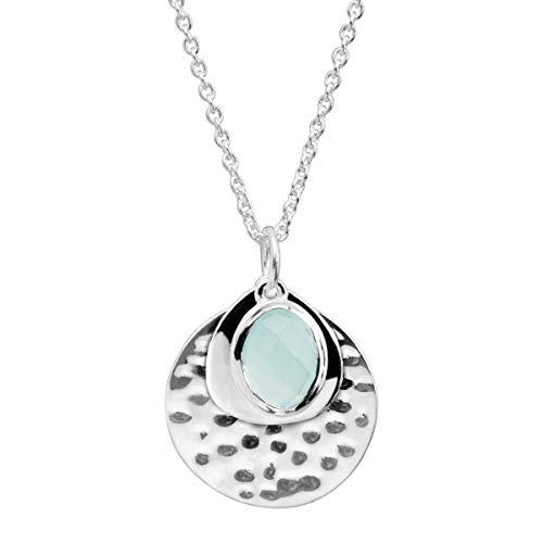 Silpada 'Entranced' Natural Chalcedony Pendant Necklace in Sterling Silver
