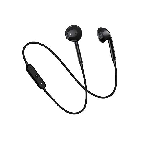 Wireless Bluetooth Headphones, ECZO Bluetooth Sport Stereo Earbuds Headset/Exercise Running Headphones with Mic Noise Cancelling Sweat Proof Earphones (Black)