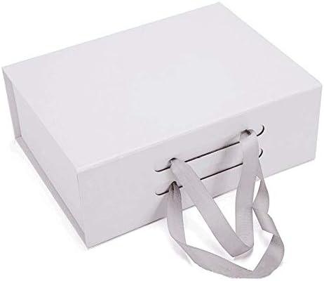 Aangepaste papieren doos geschenkverpakkingsdoos Logo Luxe kleding Shirttas Schoenen Geschenkdozen Kartonnen opvouwbare dozen met lintmagneet, zwart, 1 stuks