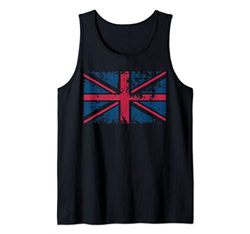 (Union Jack Vintage UK Flag Art   Britain Loyalists Gift Tank Top)